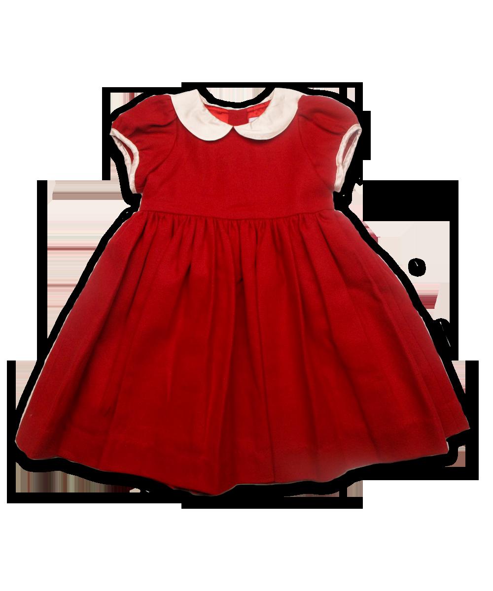 Tweed Rachel Dress, Red/Creme