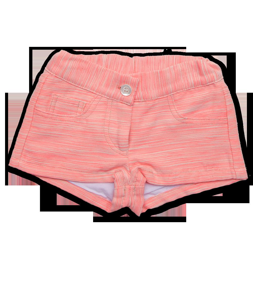 Girl's Short in Coral Jacquard