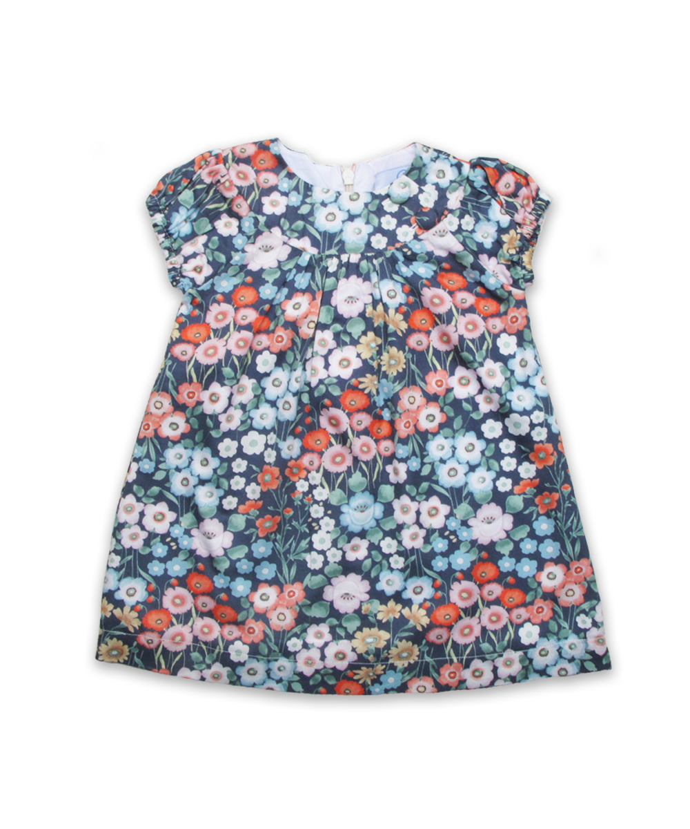 Eden Dress in Navy Garden
