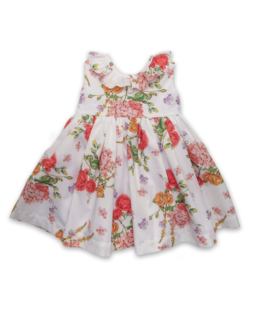 Ruffle Collar Dress in Vintage Floral