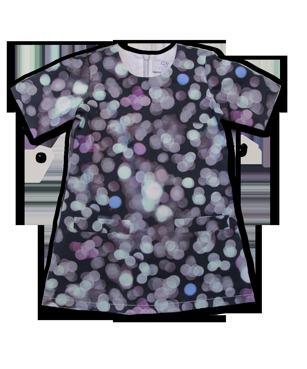 Clara Dress in Bubble Print