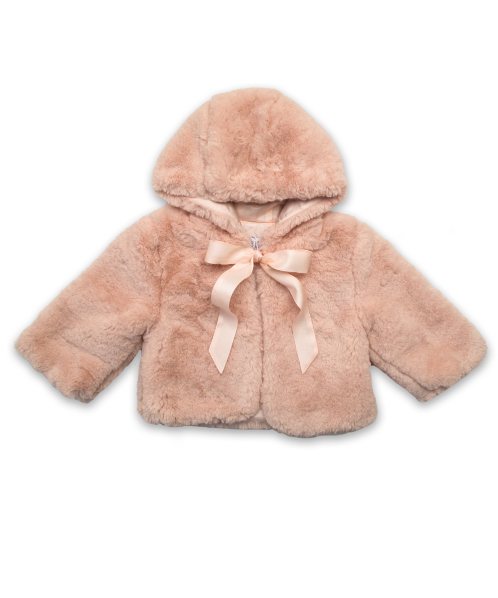 Baby Girl Faux Fur Coat in Pink