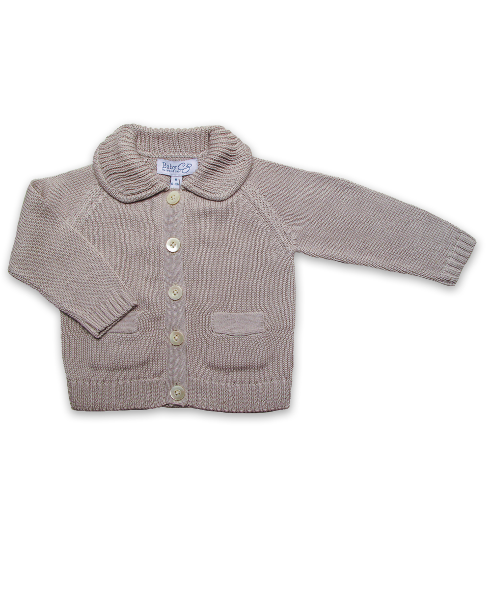 Cotton Boy's Cardigan in Moon