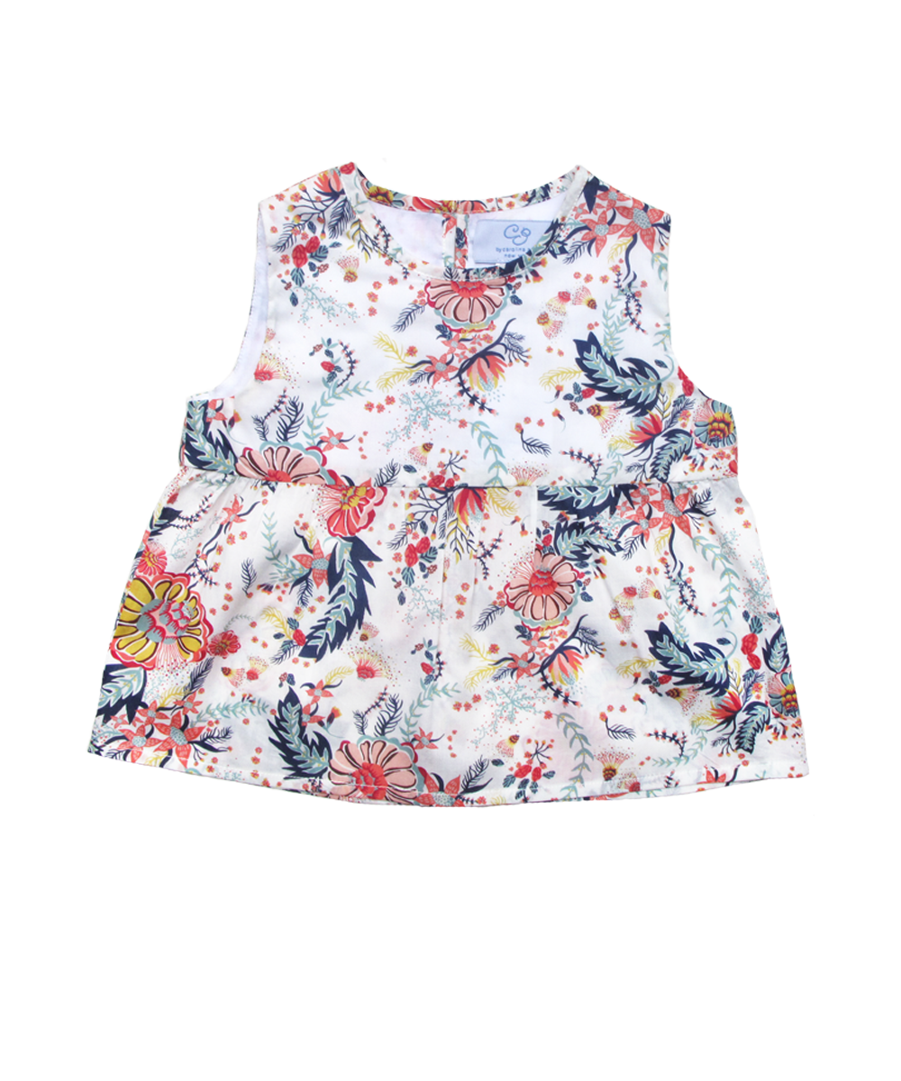 Ava Top in Liberty Aquatic Bloom