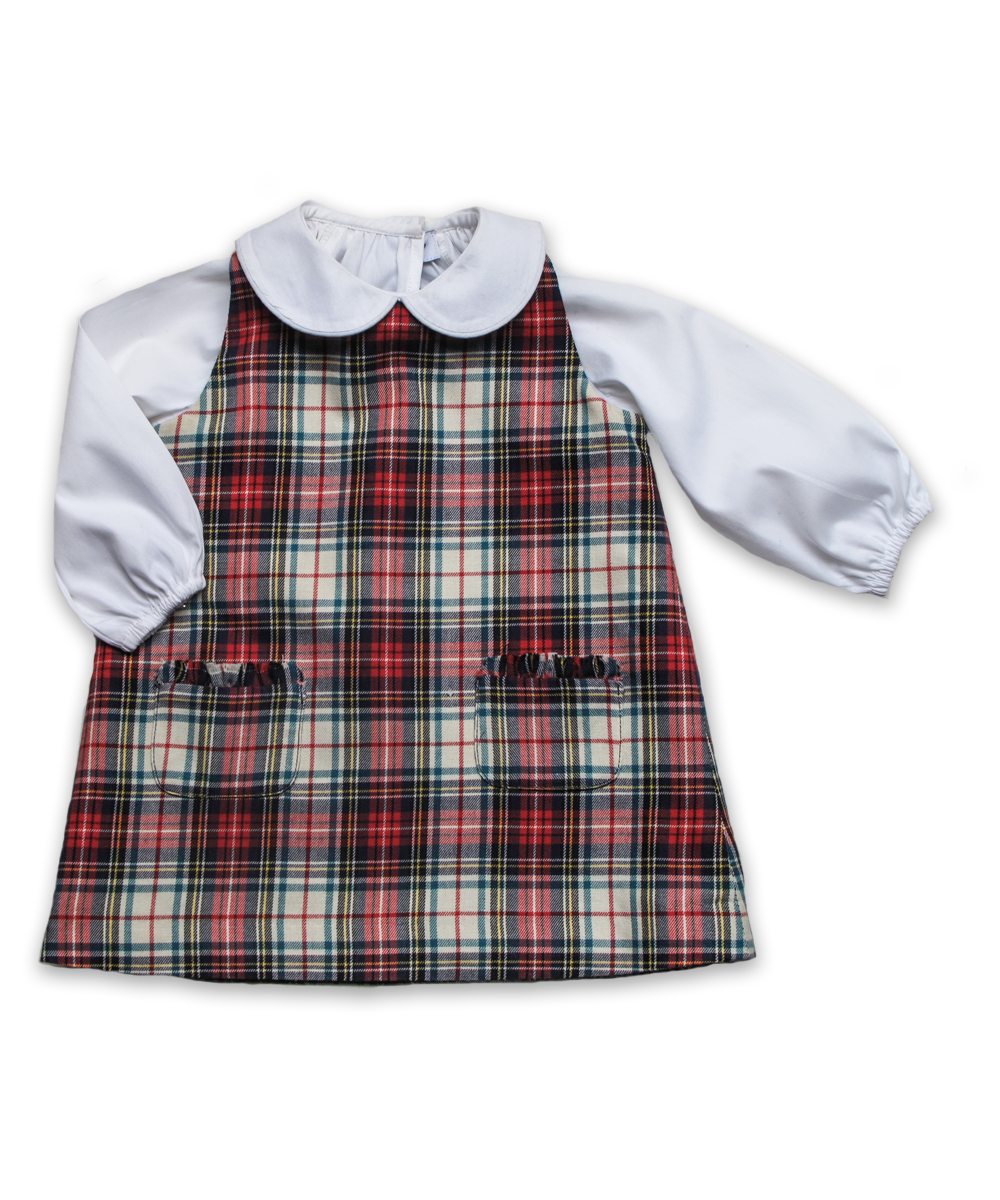 Sabrina Jumper in White/Red Plaid