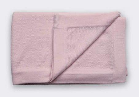 Cashmere Popcorn Stitch Blanket in Pink