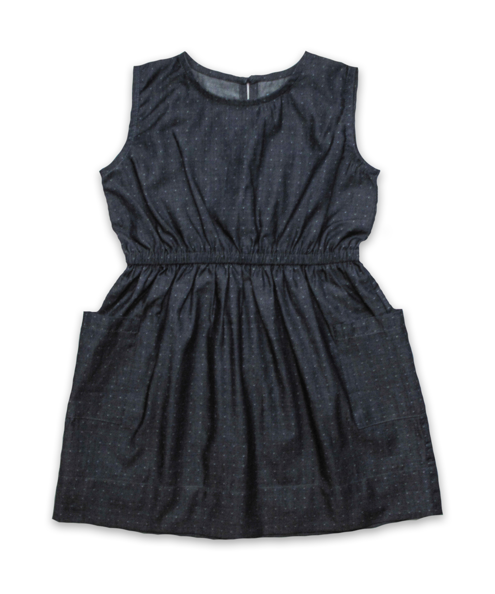Filipa Dress in Denim Dot