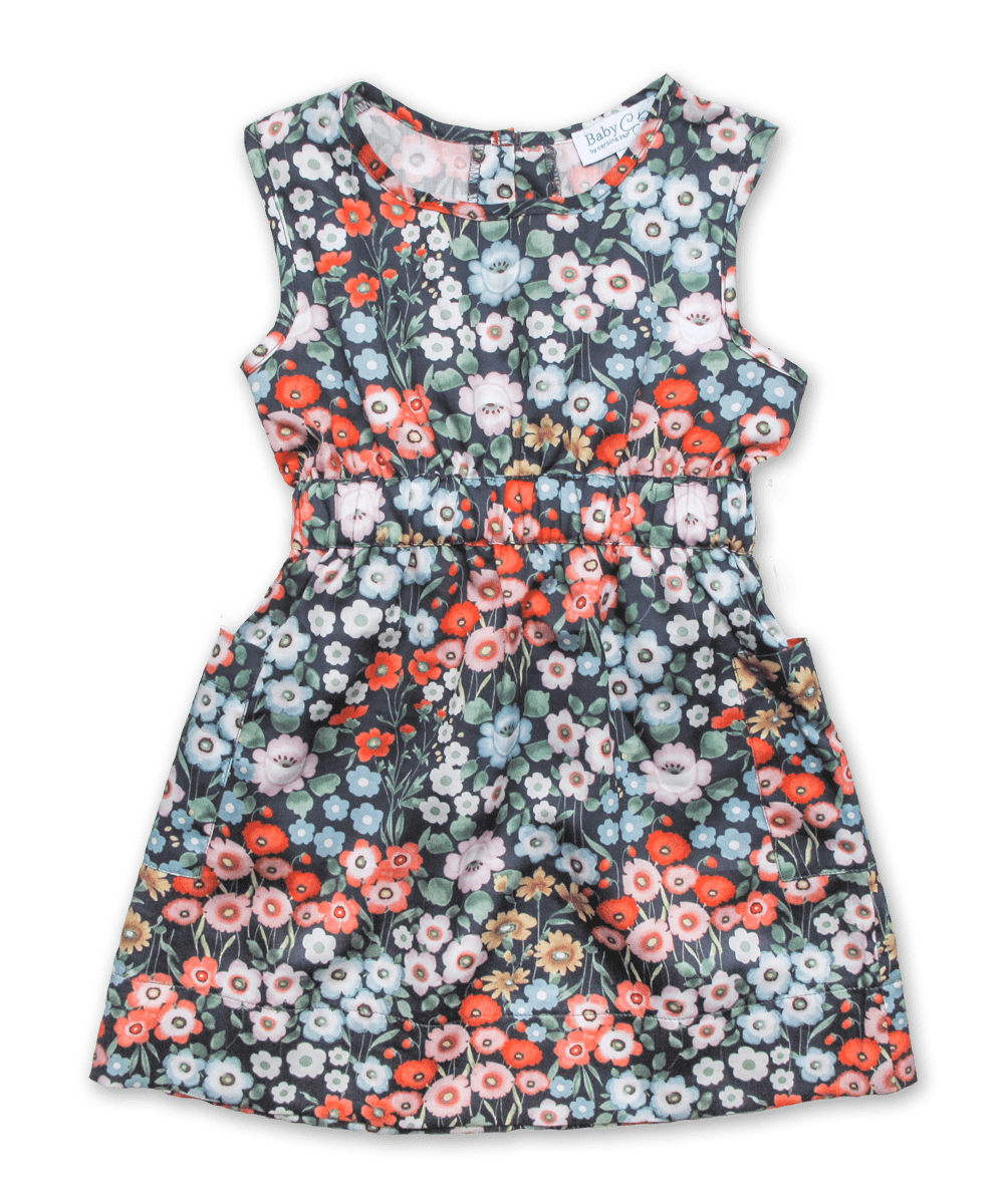 Filipa Dress in Navy Garden