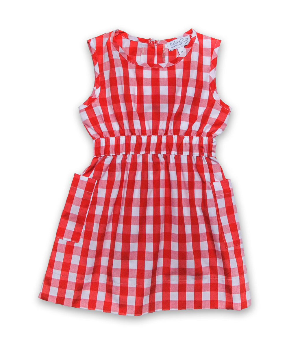 Filipa Dress in Red Check