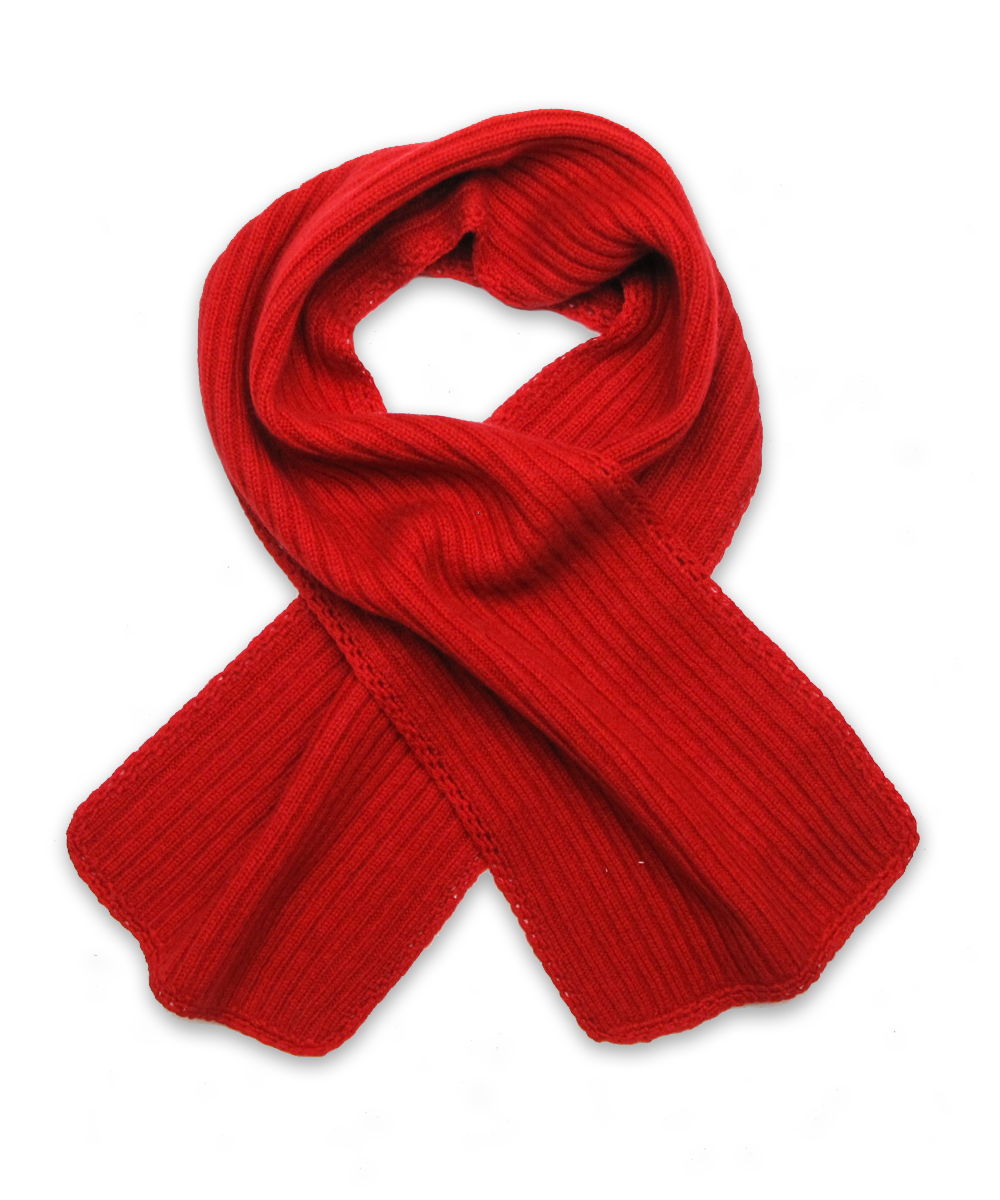 Ribbed Scarf in Red