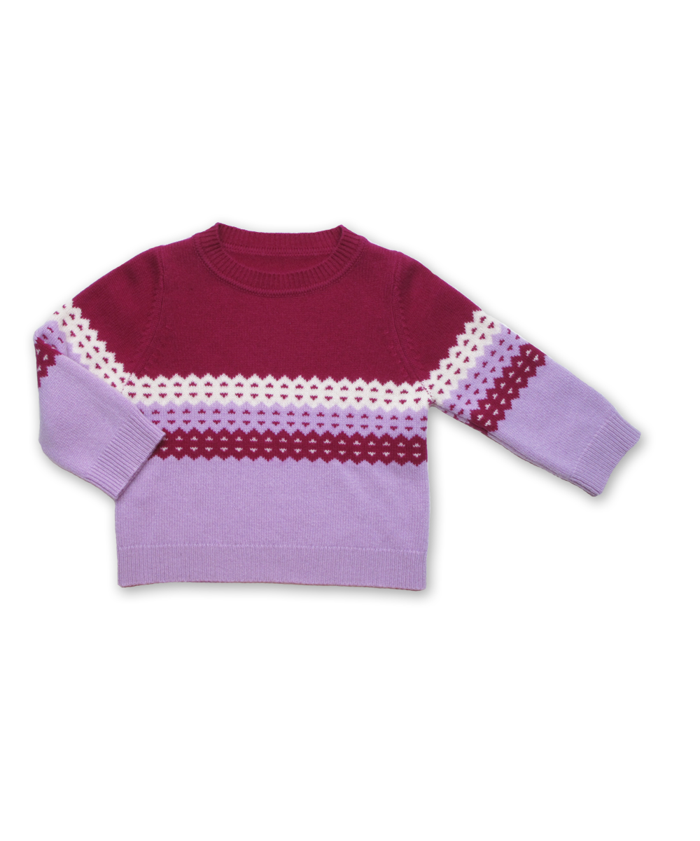 Norwegian Sweater in Fuschia and Lavender