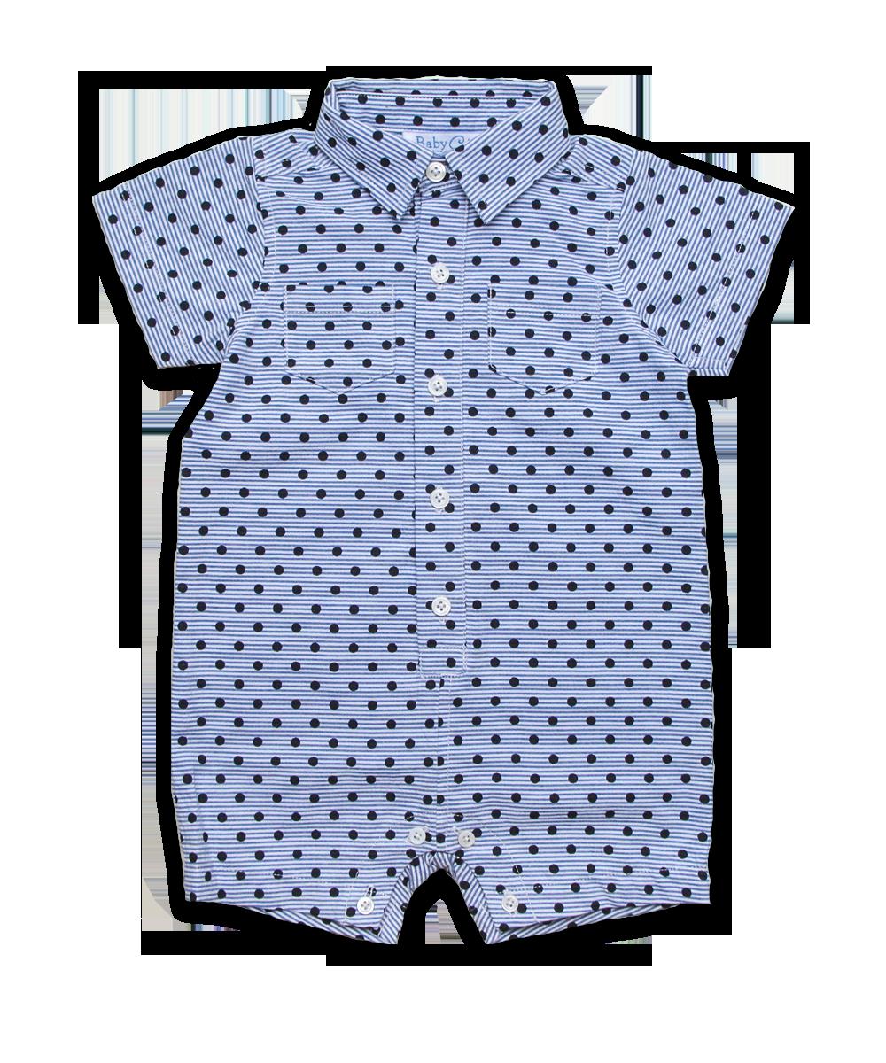 Boy's Shortall in Navy Dot