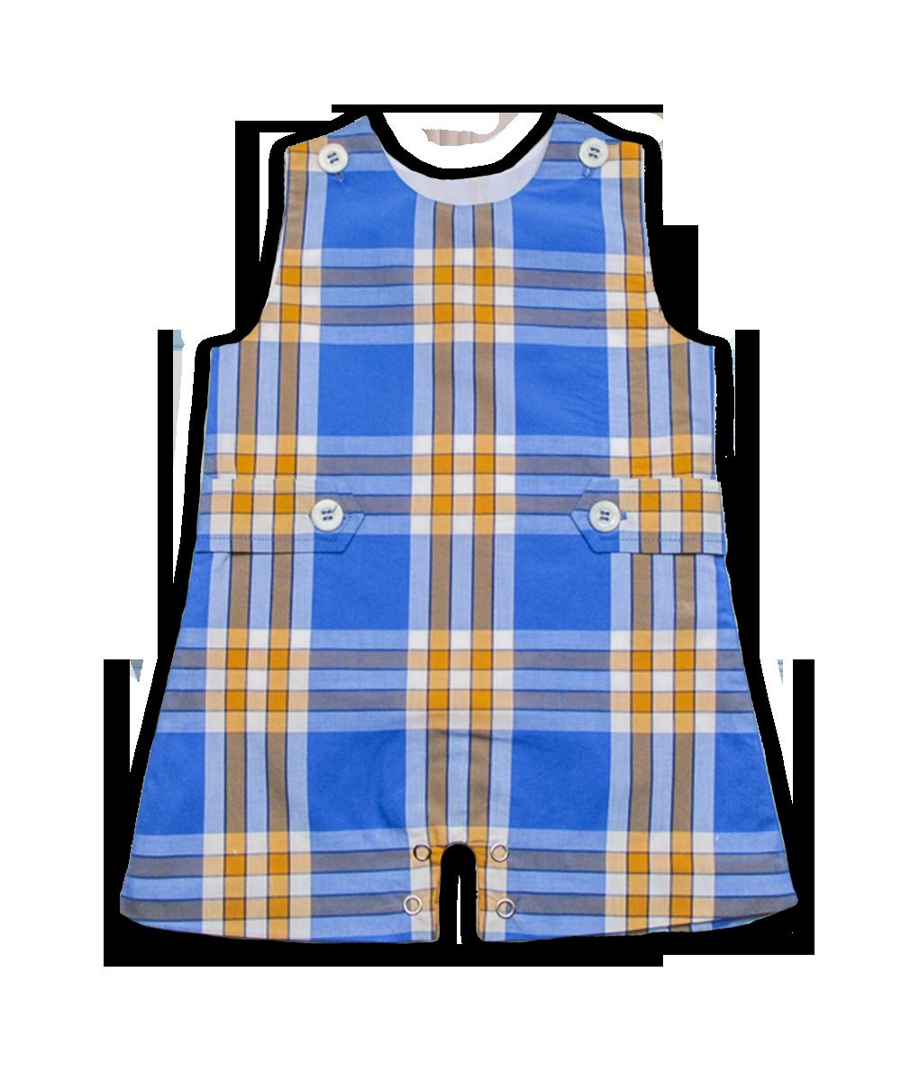 Shortall in Bright Blue Plaid