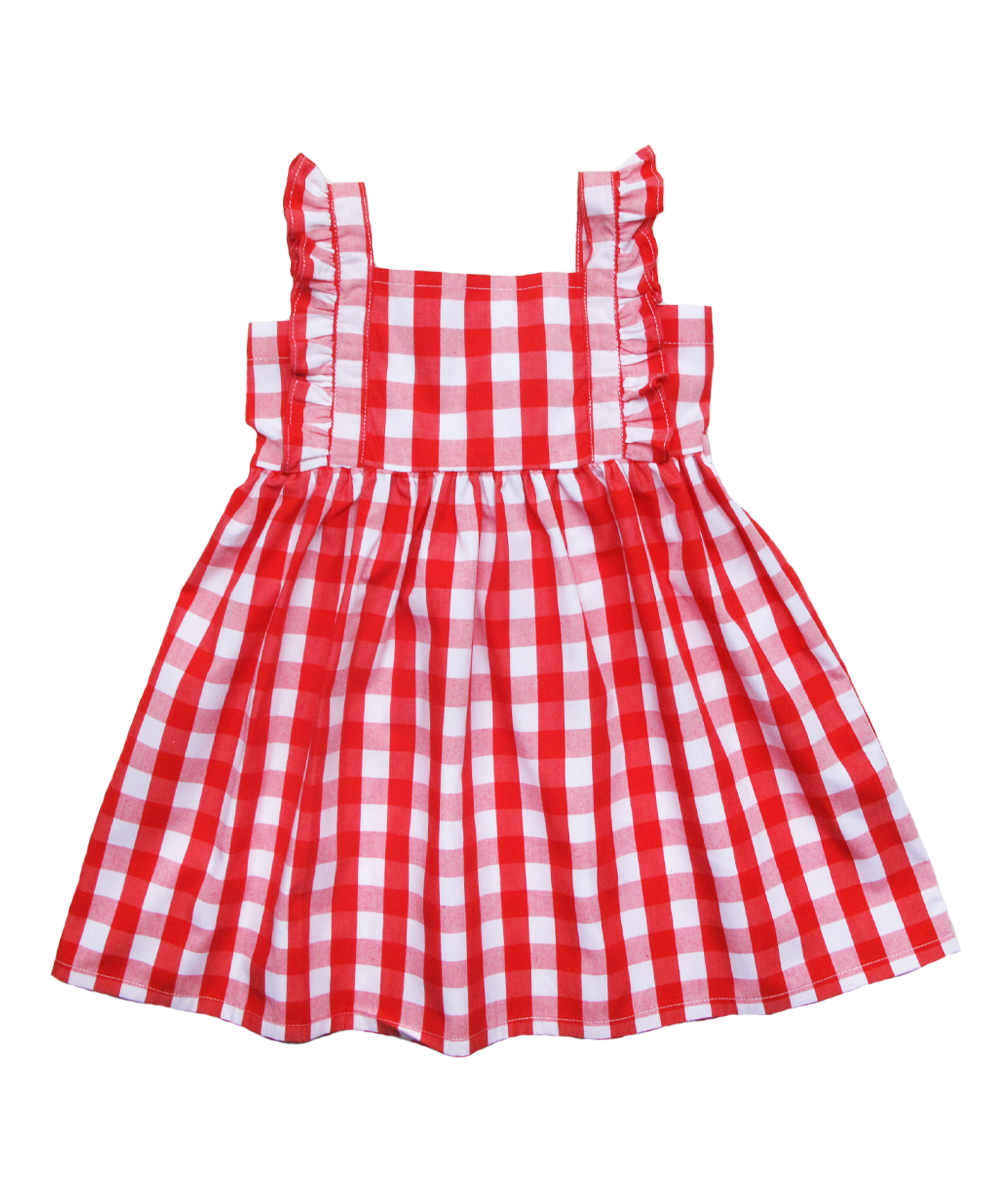 Heidi dress in Red Check