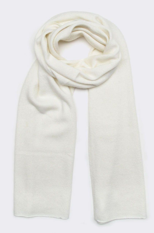 cashmere scarf, creme