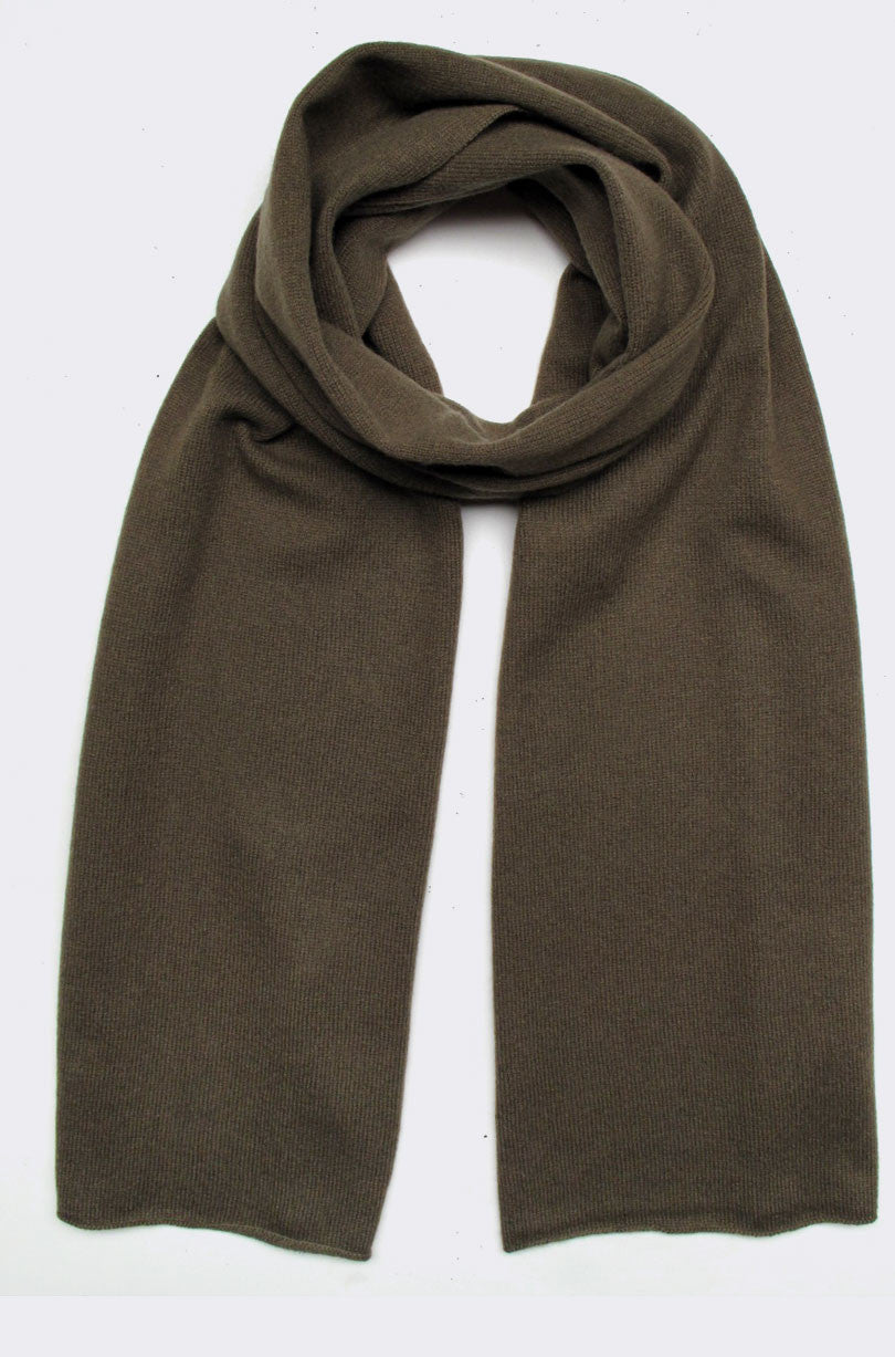 cashmere scarf, olive