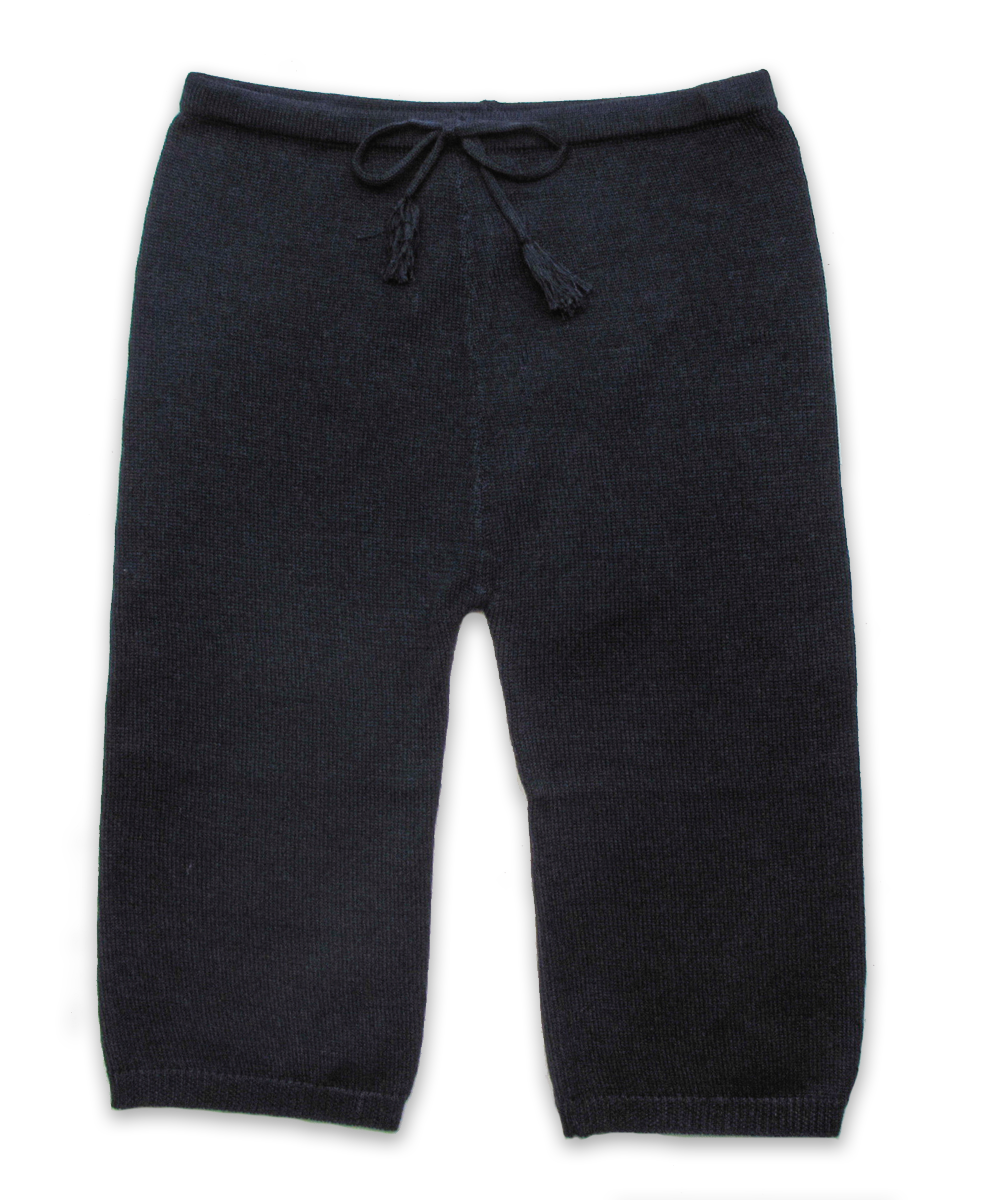 Knit Cotton Pant in Navy