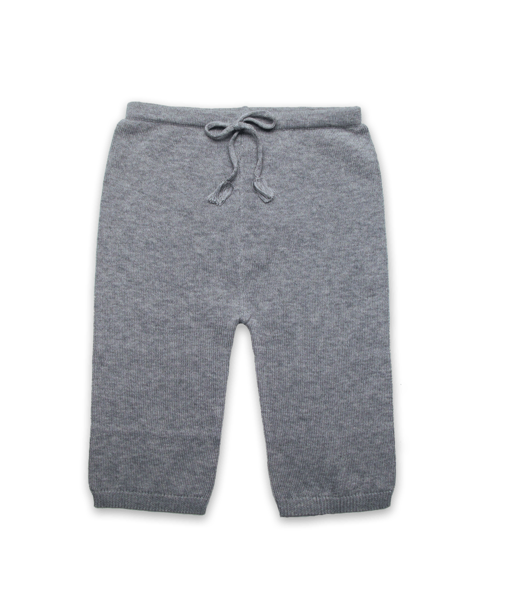 Knit Cotton Pant in Silver