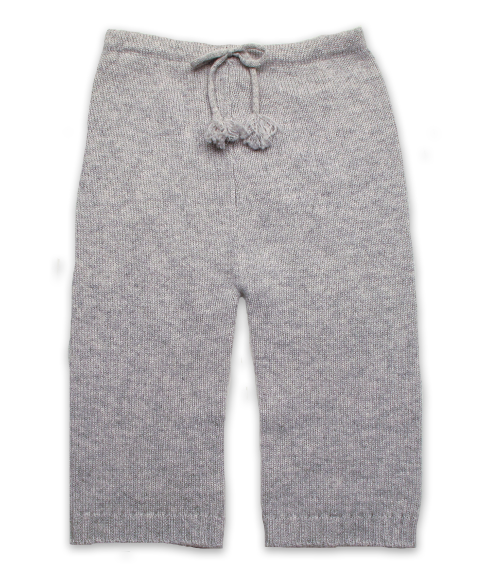 Cashmere Baby Pant in Silver Gray