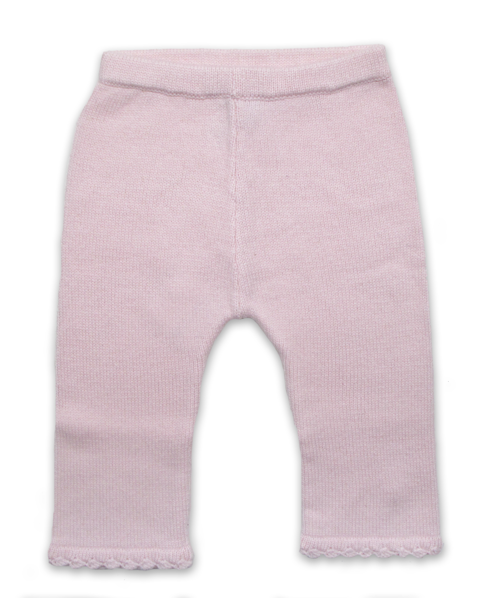 Cashmere Pant with Crochet in Pink