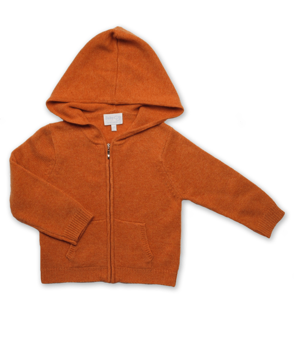 Cashmere Hoodie in Orange