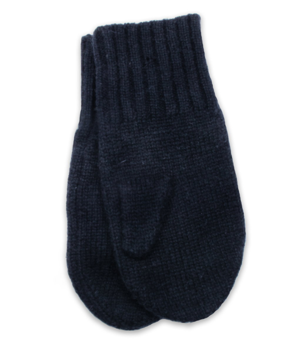 Cashmere Mittens in Navy