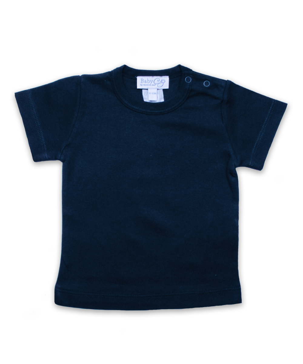 Pima Cotton Shortsleeve Tee in Navy
