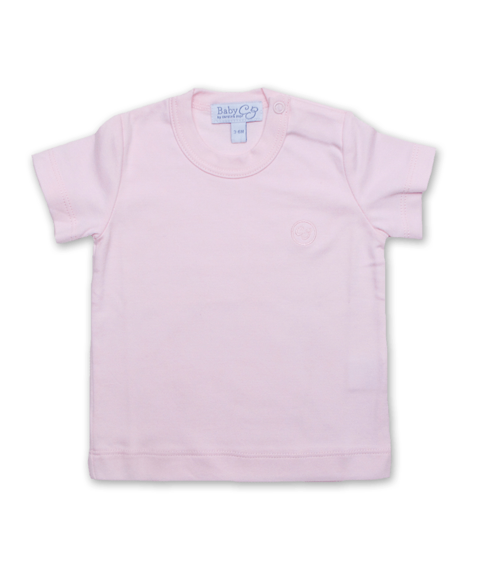 Pima Cotton Shortsleeve Tee in Pink