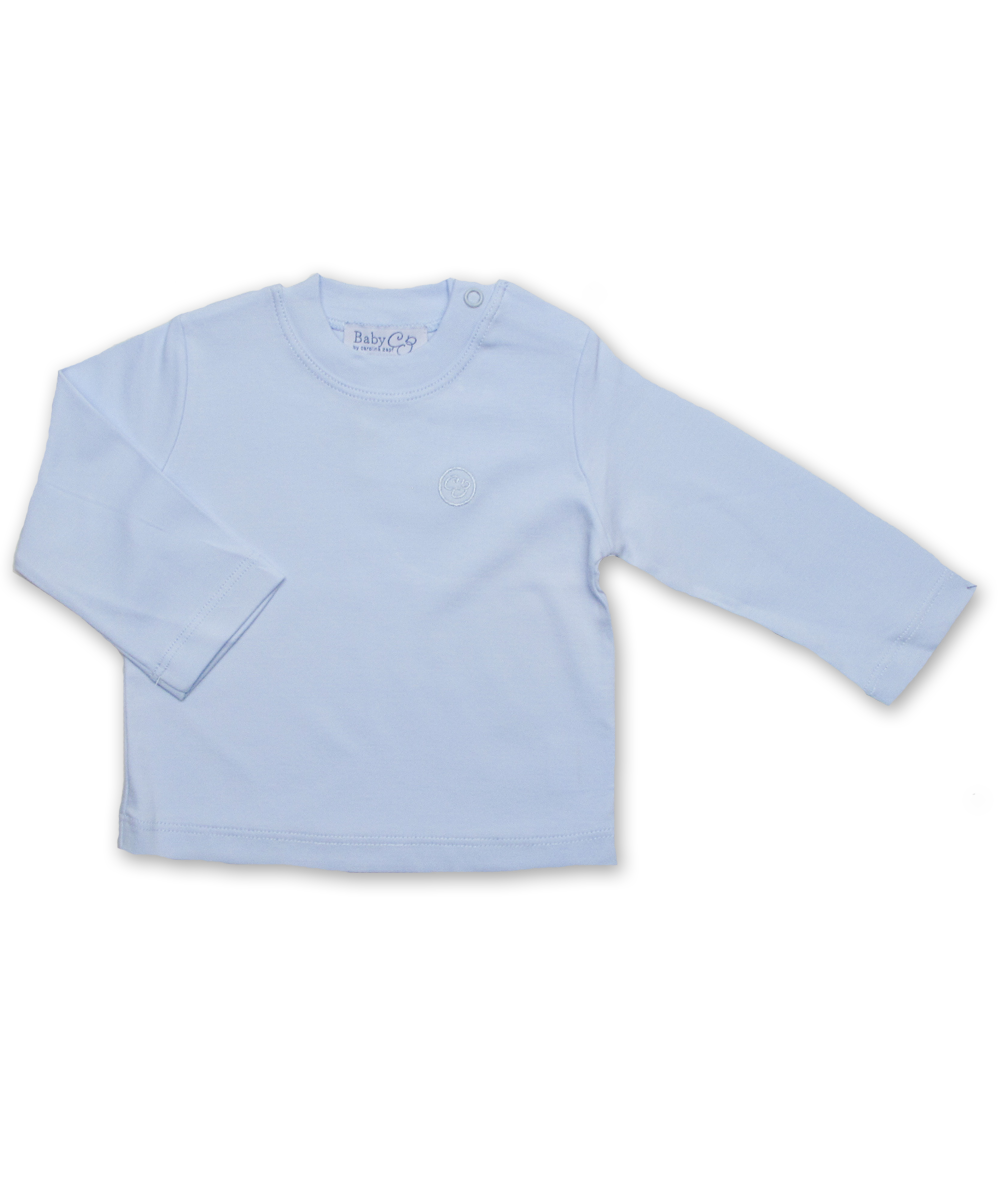 Pima Cotton Longsleeve Tee in Blue