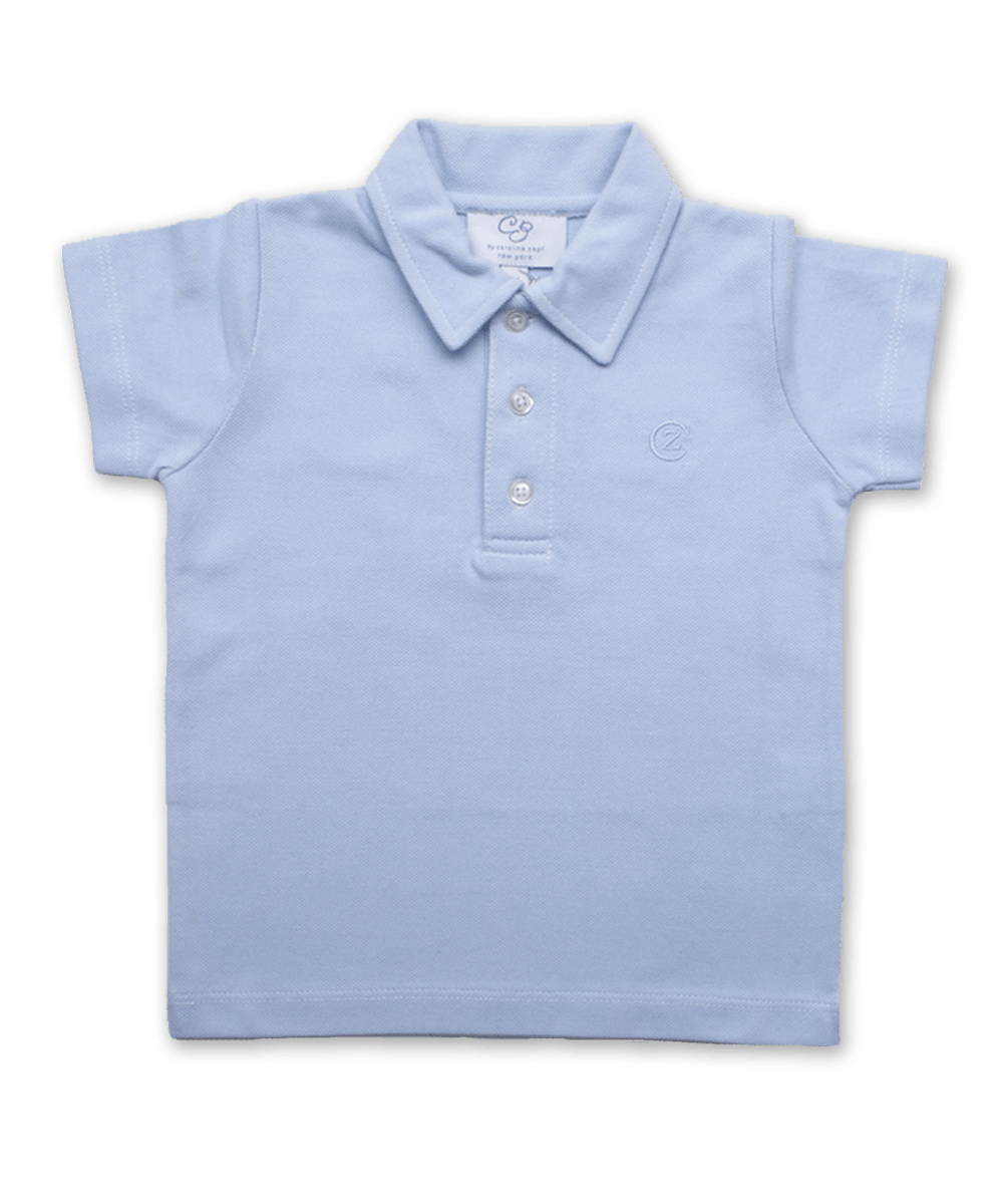 Pique' Cotton Polo in Blue