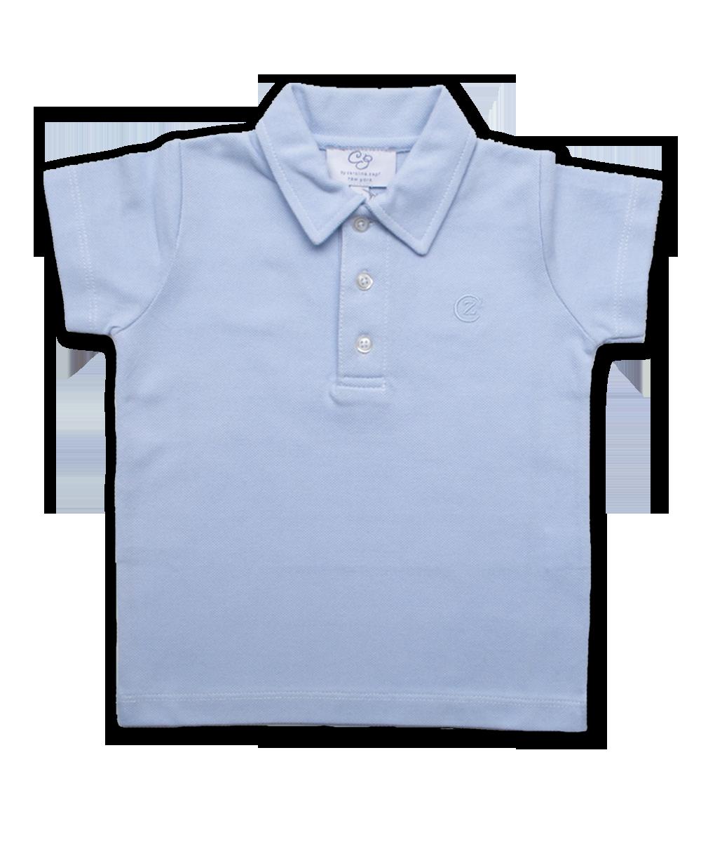 Pique' Cotton Polo in Blue
