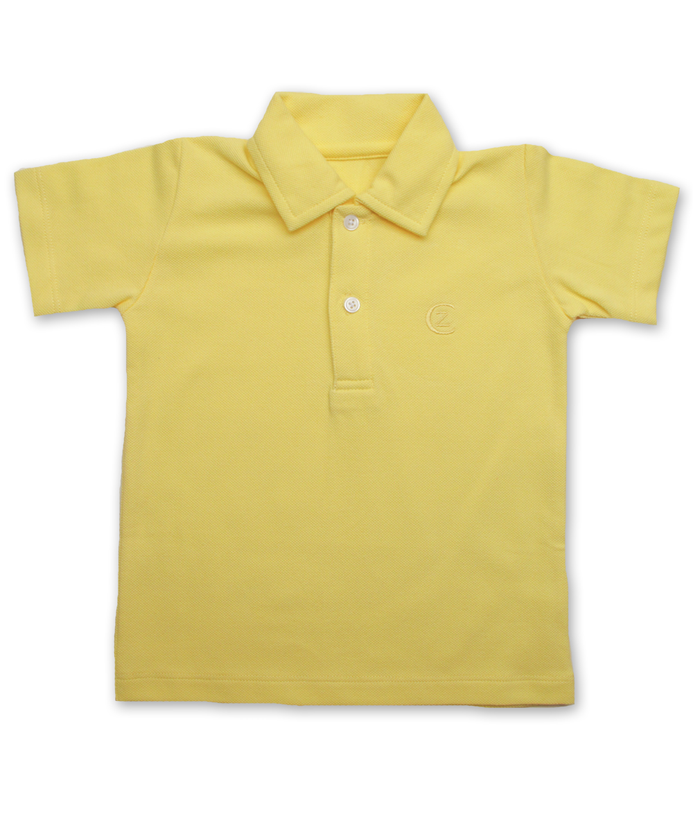 Pique' Cotton Polo in Lemon