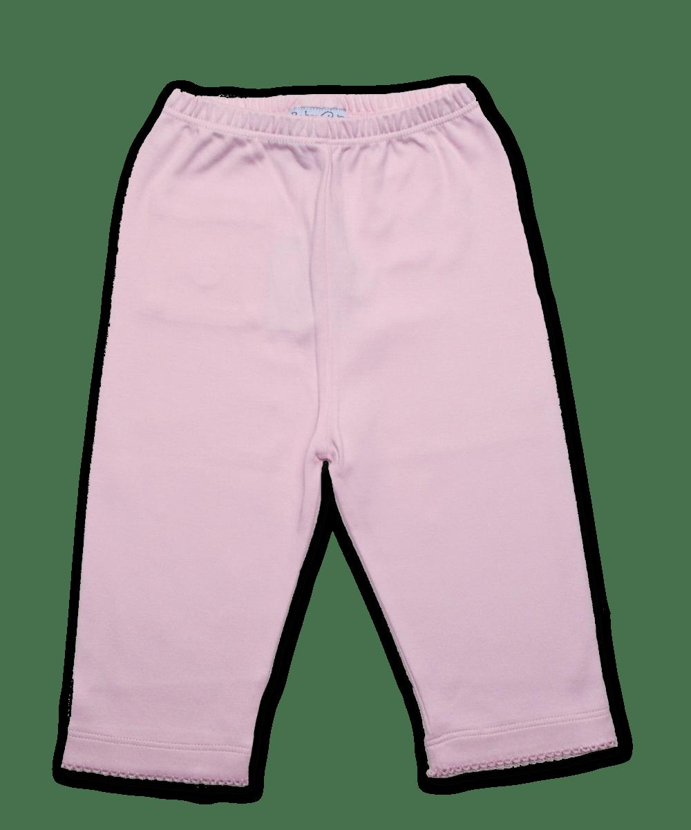 Pima Cotton Crochet Baby Pant, Pink