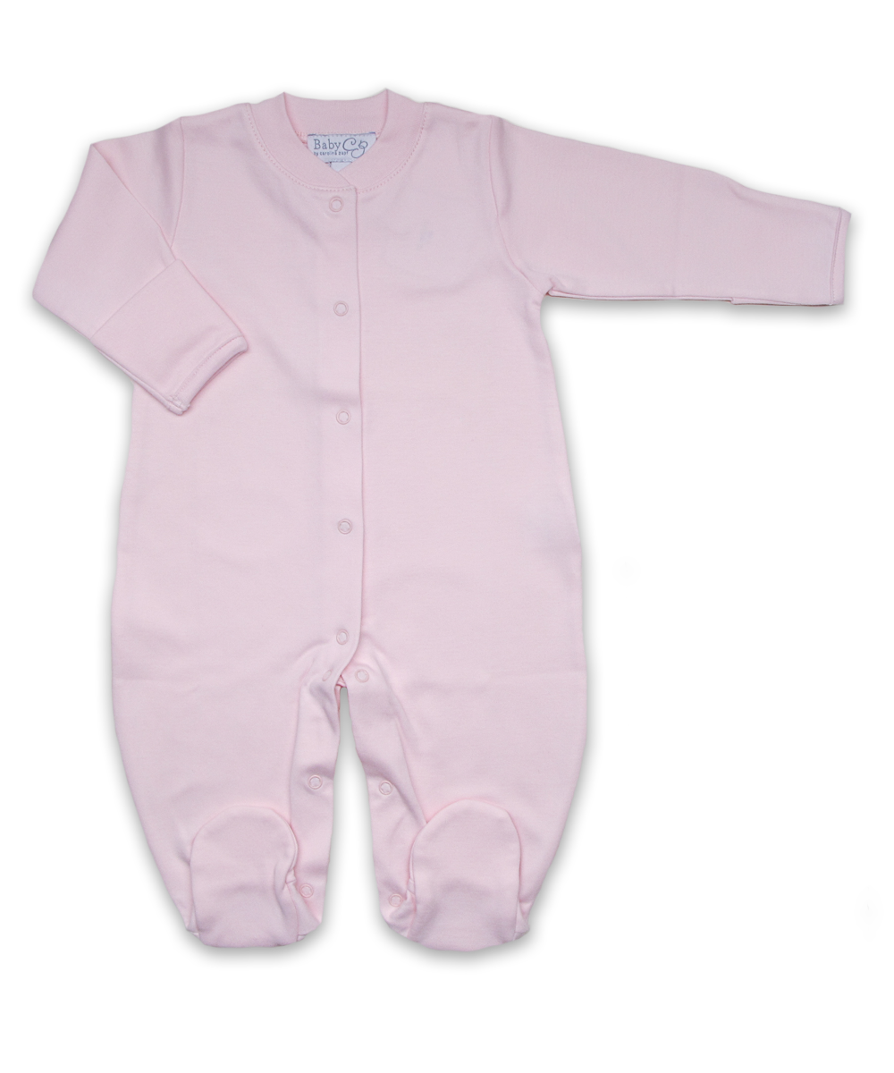 jewel-neck onesie in Pink