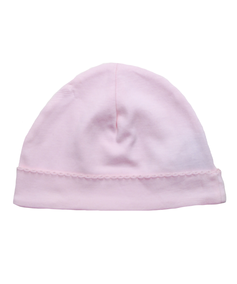 Pima Hat with Crochet in Pink