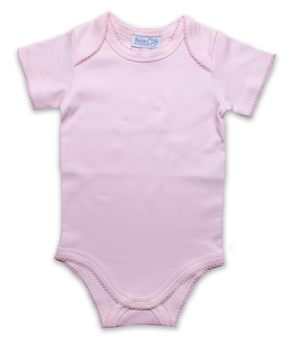 Short Sleeve Bodysuit in Pink