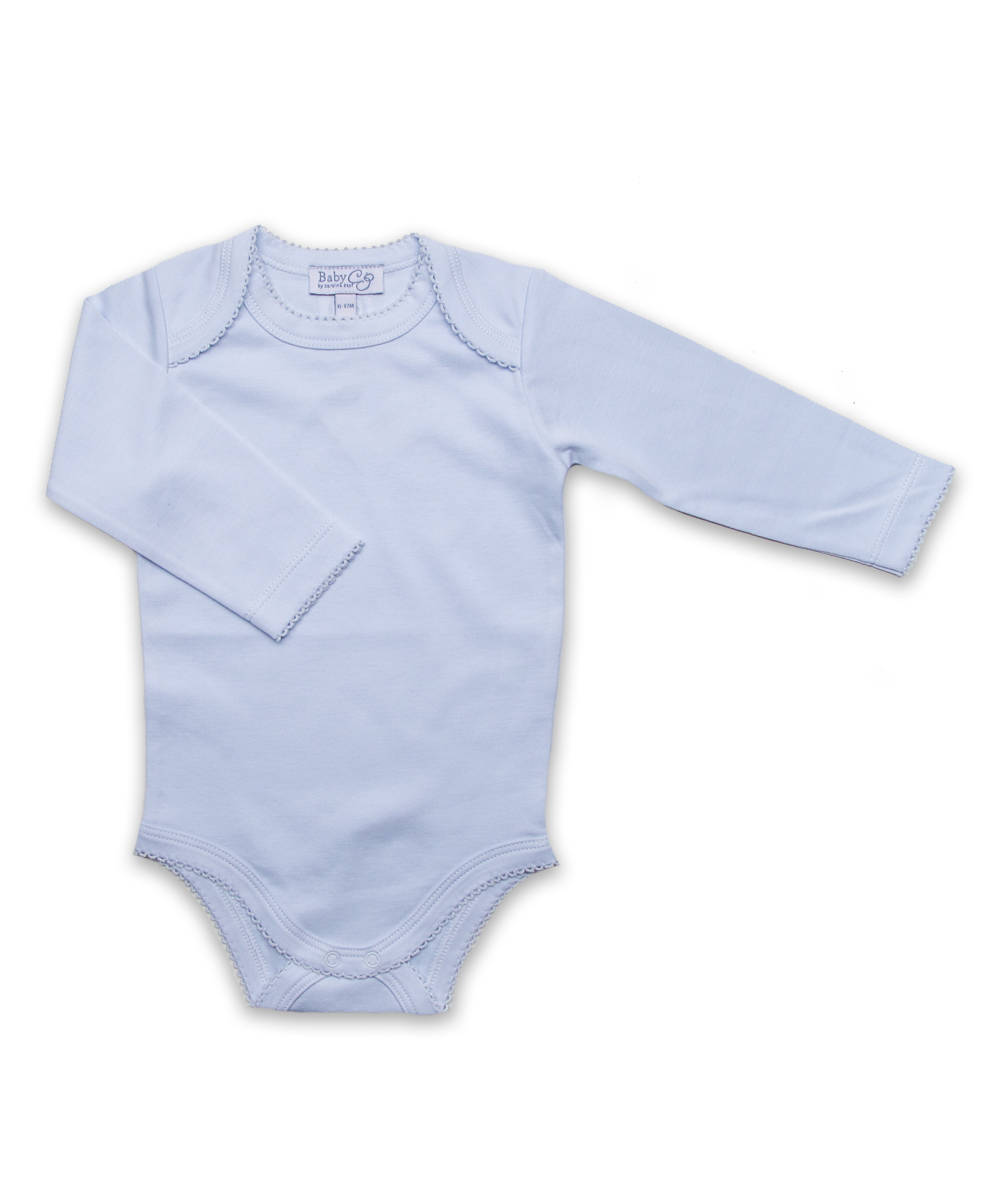 Long Sleeve Bodysuit in Blue