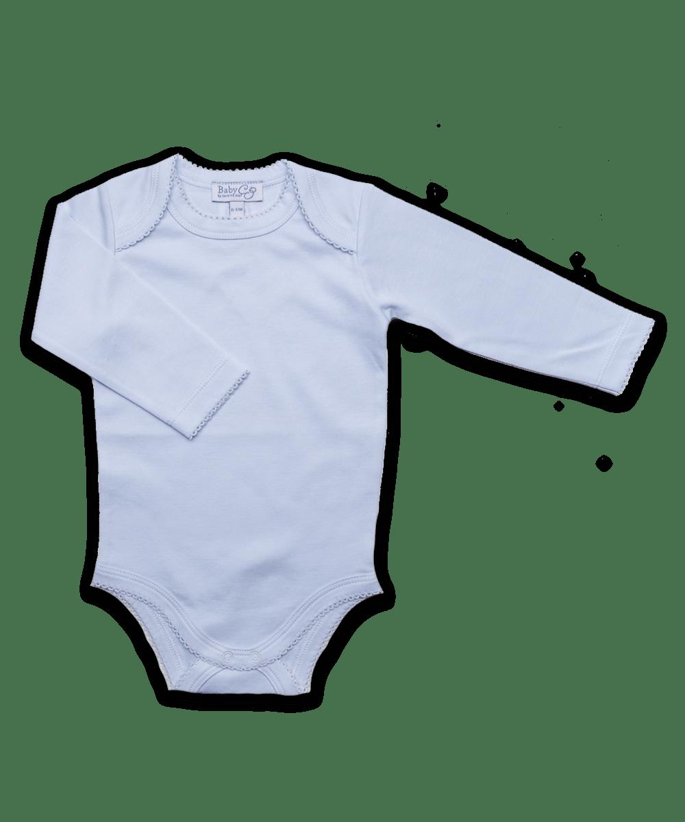 Long Sleeve Bodysuit in Blue