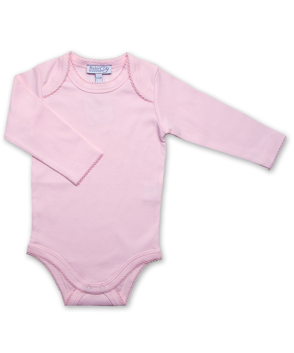 long-sleeved onesie, pink
