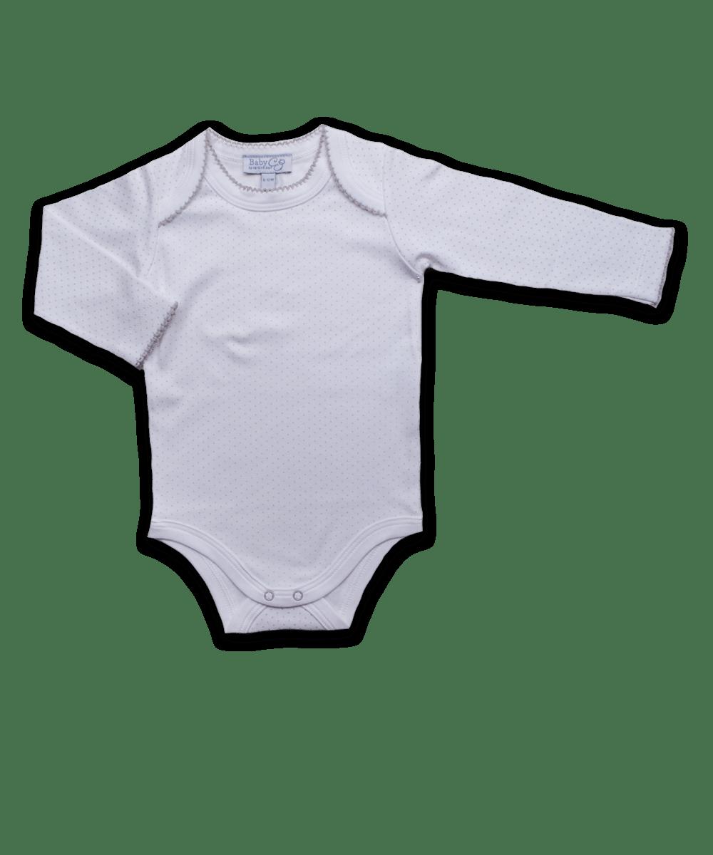 Long Sleeve Bodysuit in Tiny Dot Silver