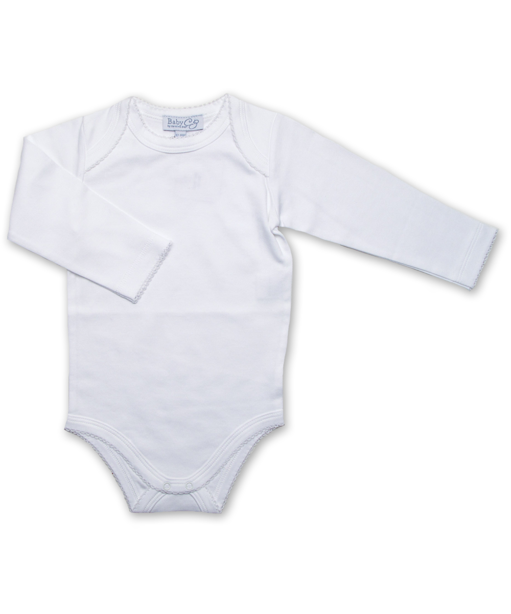 long-sleeved onesie, white