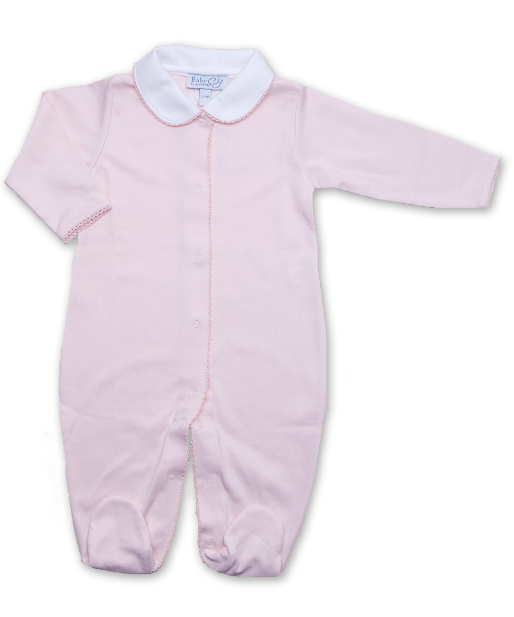 Footie with Peter Pan Collar in Pink