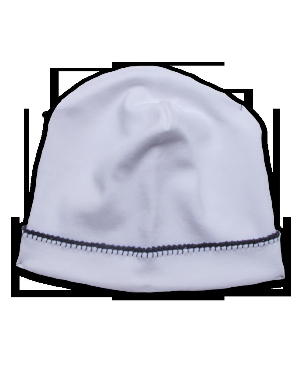 Pima Hat with Navy Hand Crochet