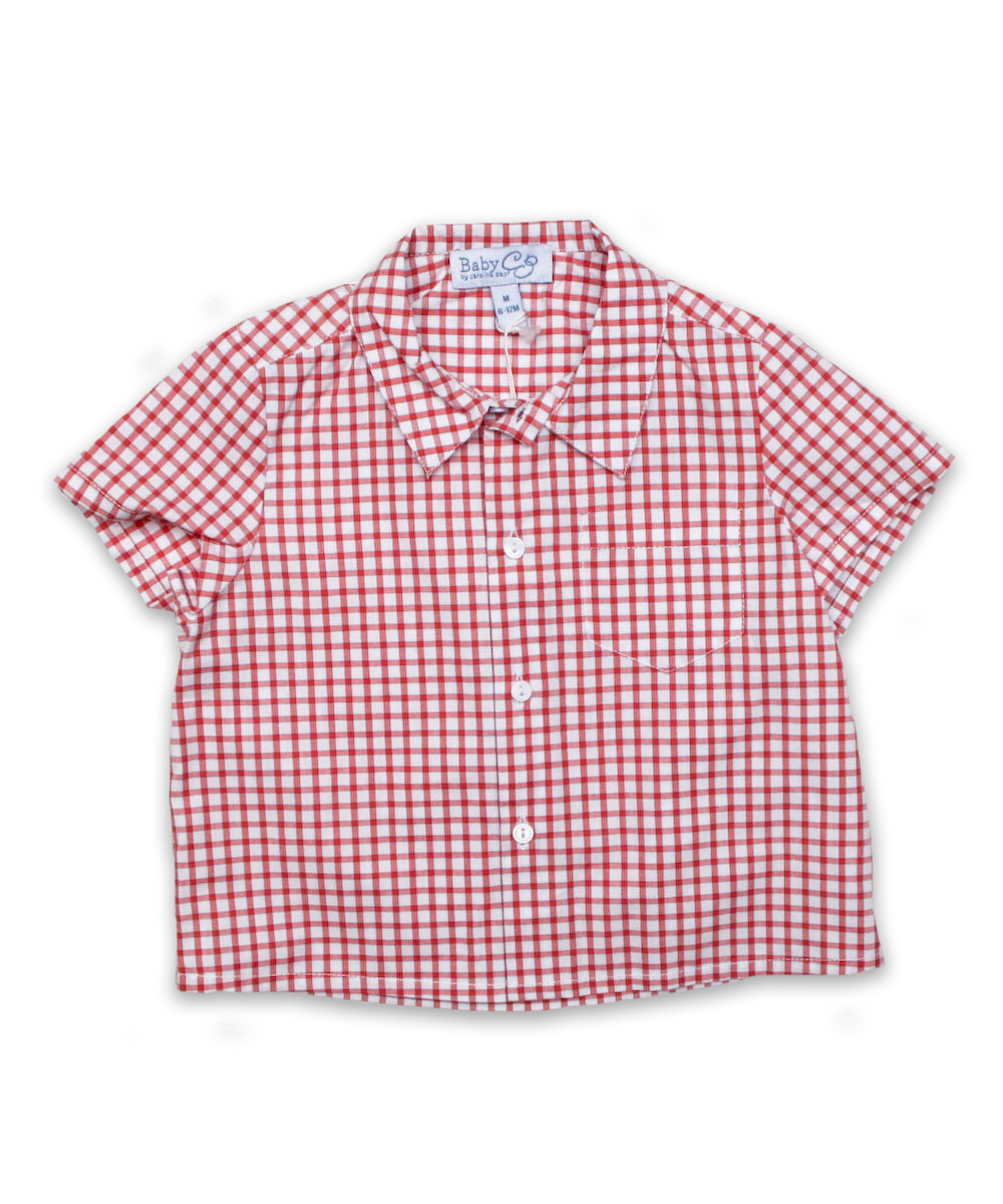 Baby Shirt in Red/Navy Check