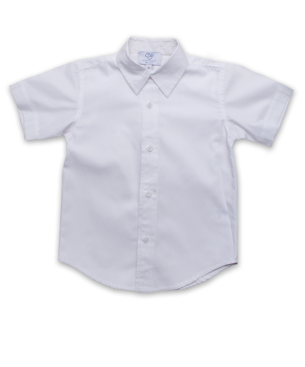 Boys' Short Sleeve Shirt in White