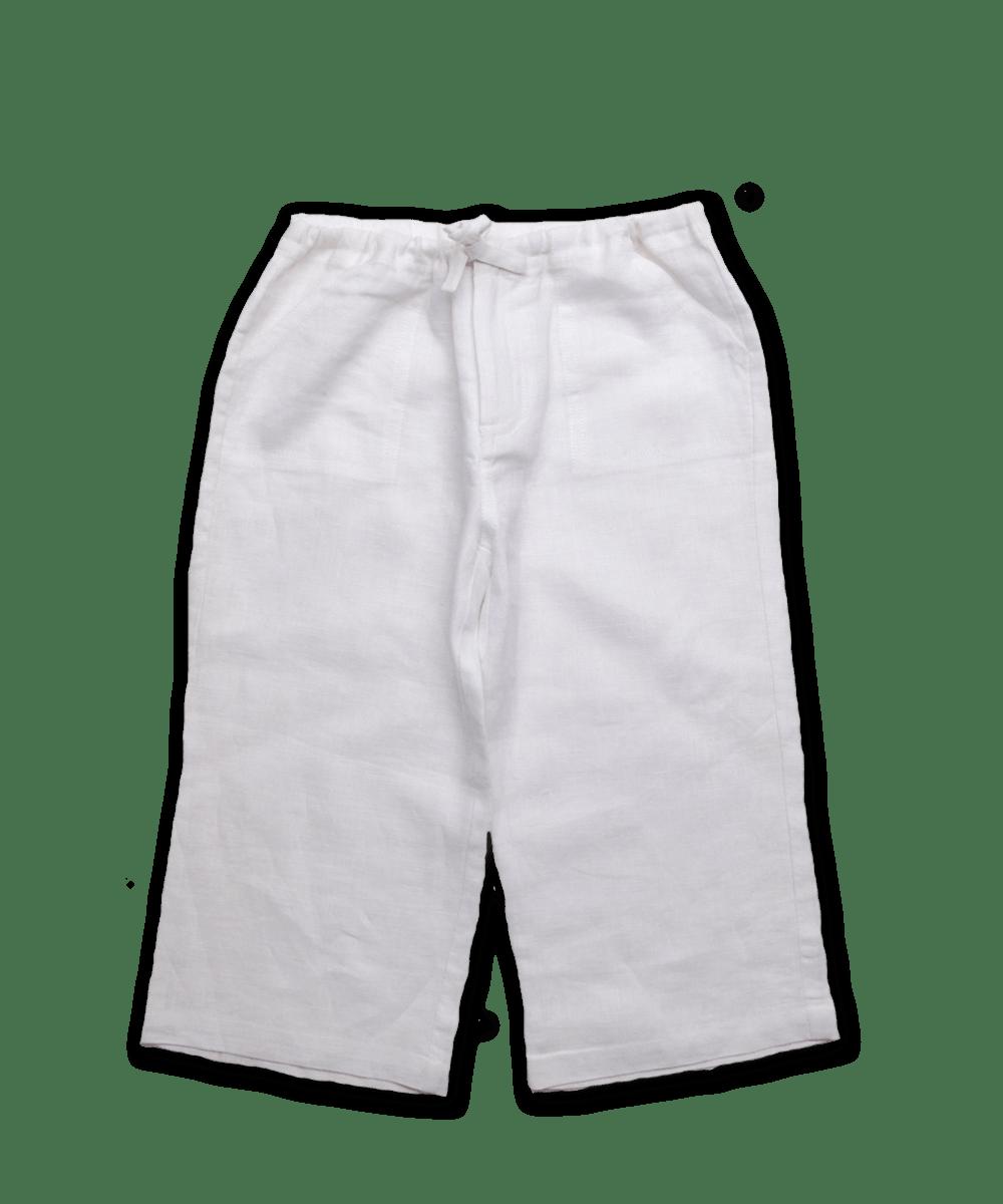 Linen Pant in White