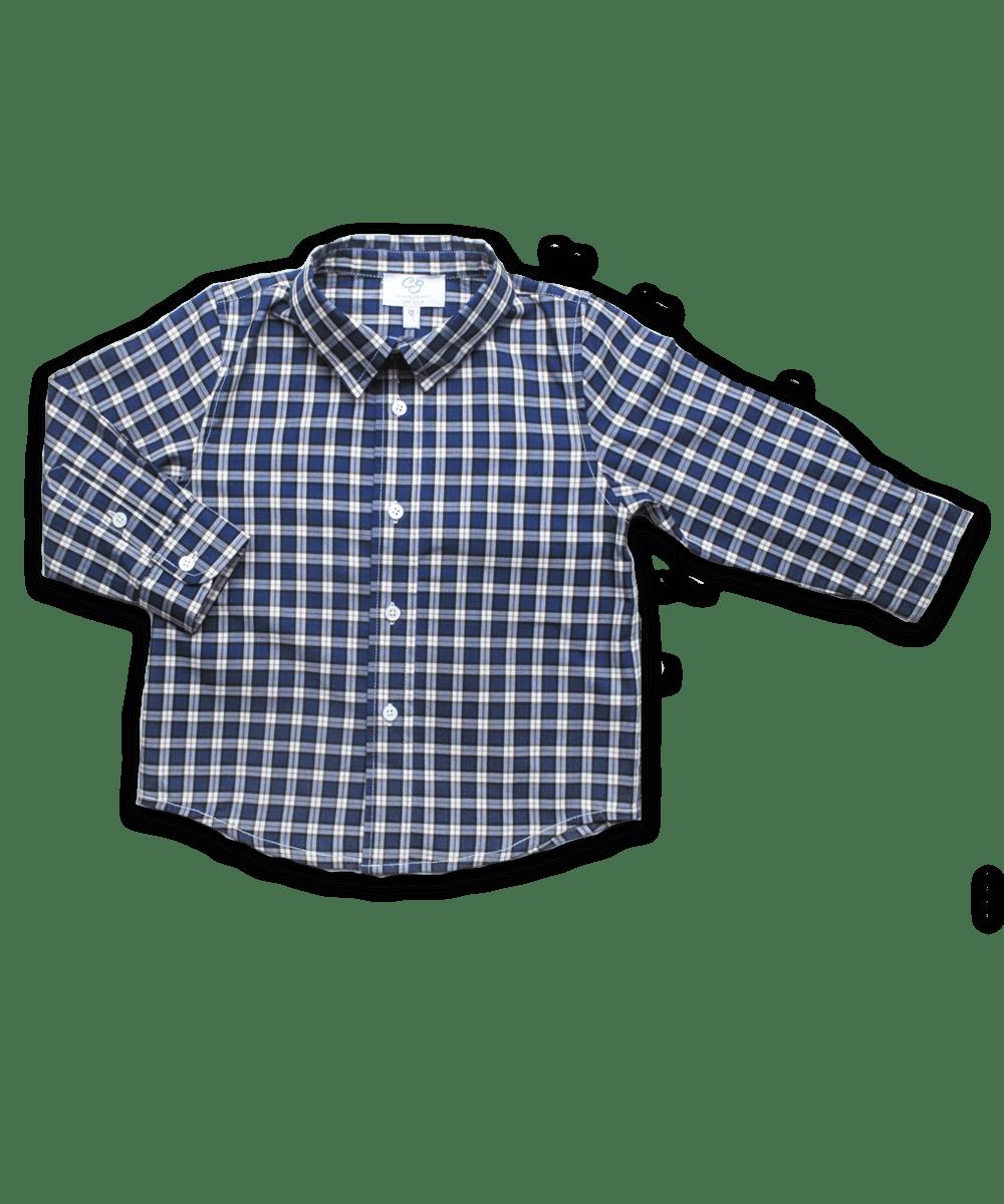 Longsleeve Shirt in Royal Windowpaine