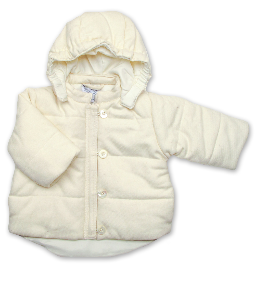 Quilted Snow Jacket in Creme Tweed