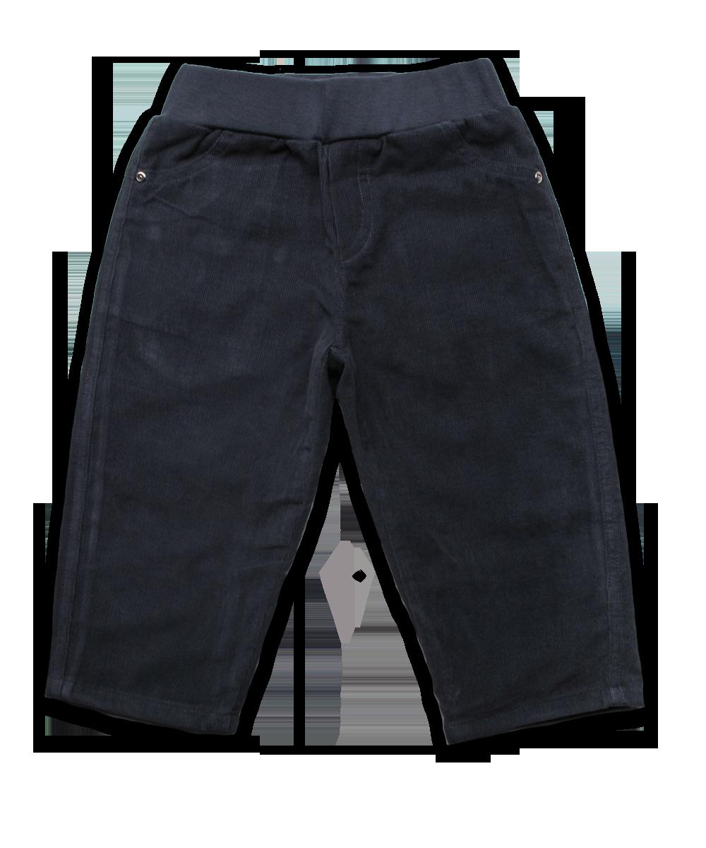 Elastic Waist Corduroy Pant in Charcoal