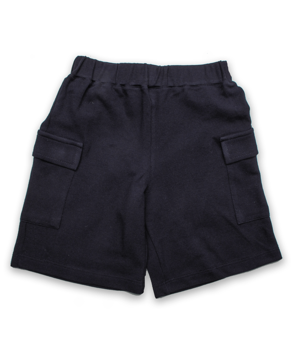 Pique Cargo Short in Navy